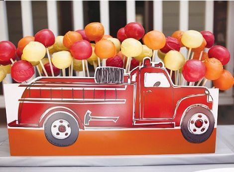 cumpleanos bomberos cake pops