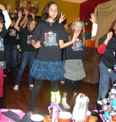 cumpleanos monster high baile