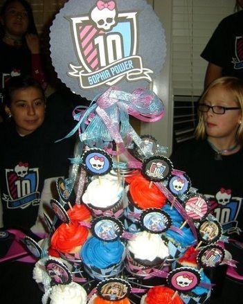 cumpleanos monster high cupcakes