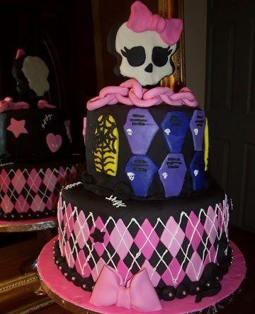 cumpleanos monster high tarta