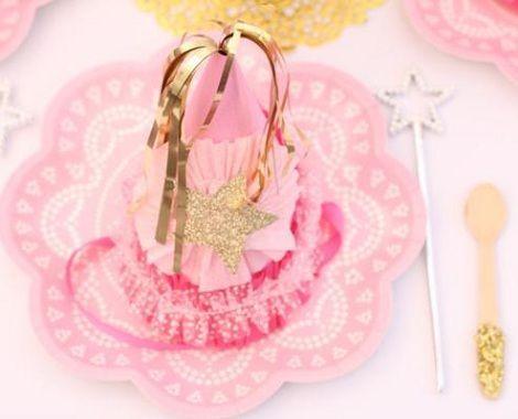cumpleanos princesas rosa platos