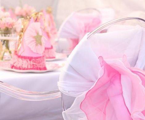cumpleanos princesas rosa sillas