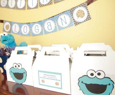 fiesta monstruo galletas bolsas
