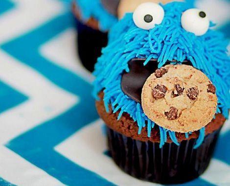 fiesta monstruo galletas cupcakes