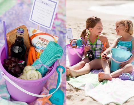 fiesta playa cubos y palas