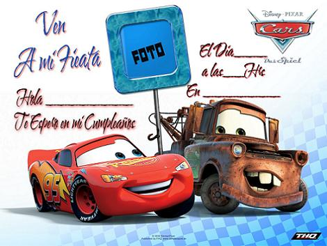 Invitación Disney Cars