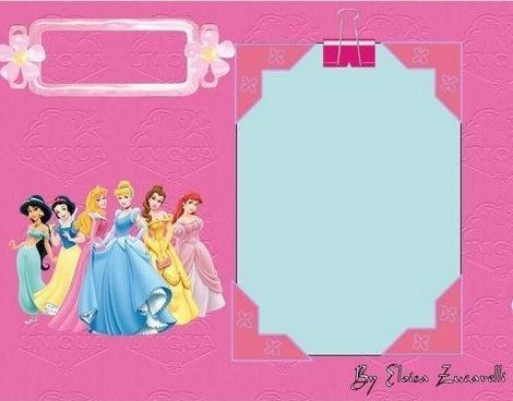 invitaciones princesas disney