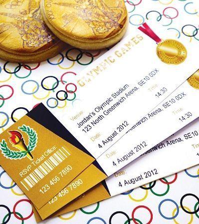 olimpiadas 2012 invitaciones