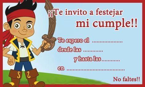 Invitación de cumpleaños pirata