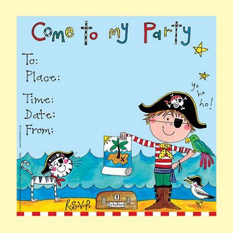 Invitación de cumple pirata