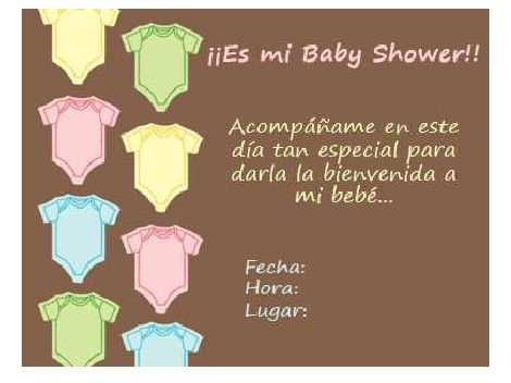 invitaciones baby shower marron