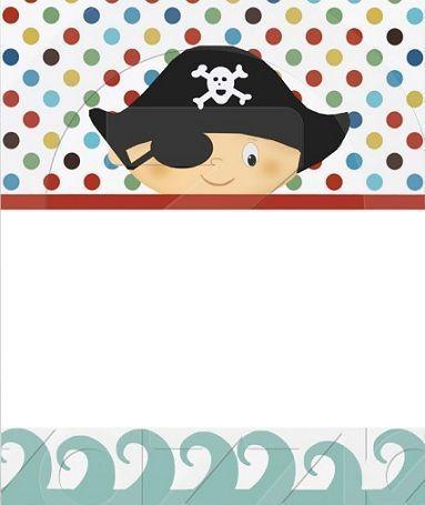 invitaciones cumpleanos infantil pirata