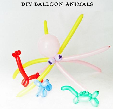 hacer globos con formas de animales
