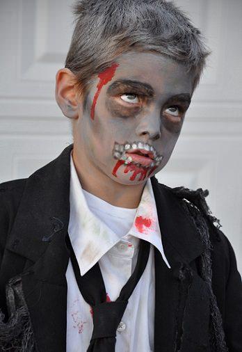 pintacaras de zombie