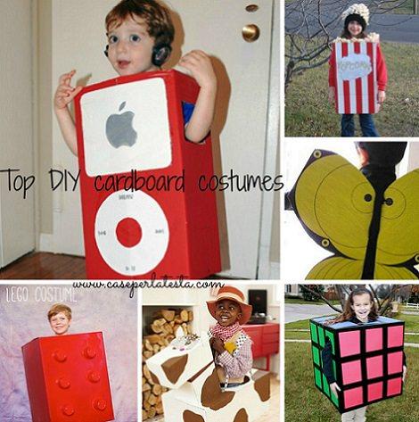 Disfraces caseros para ni os hechos con cajas de cart n - Disfraces originales hechos en casa ...