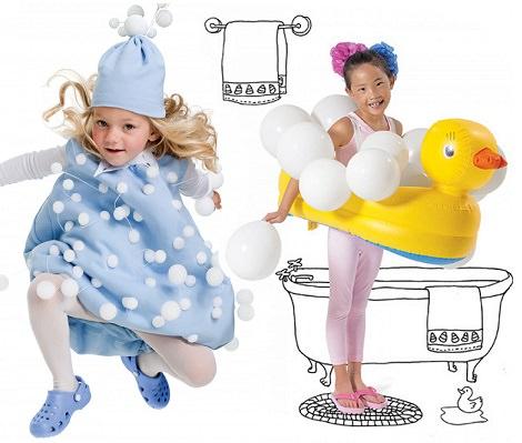 Disfraces de burbuja y baño para este Carnaval 2014