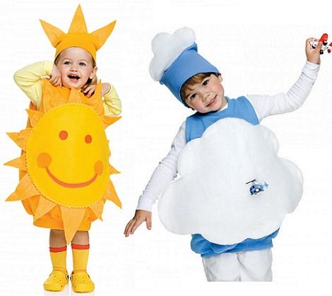 Disfraces de nube y sol para este Carnaval 2014