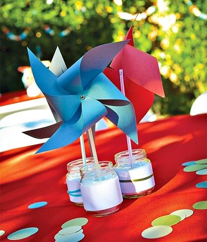 arreglos de mesa cumpleaños infantil molinos