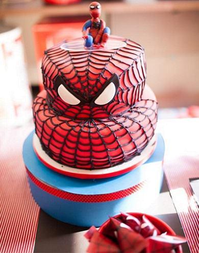 tarta del hombre araña