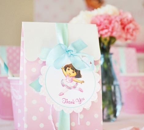 bolsitas de cumpleaños de Dora exploradora
