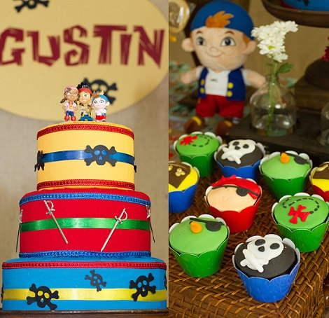 tarta de cumpleaños de jake y los piratas de nunca jamás