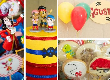 fiesta de cumpleaños de jake y los piratas de nunca jamás