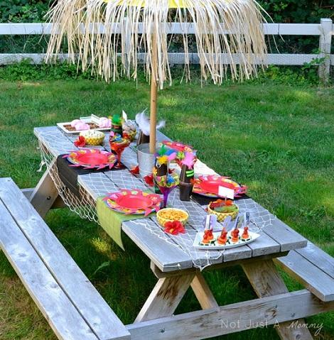 C mo decorar una fiesta hawaiana para ni os - Como decorar una mesa para una fiesta ...