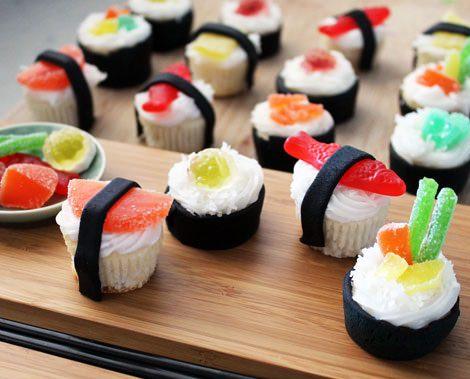 figura de golosina con forma de sushi
