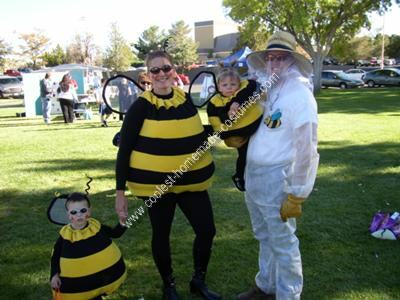 disfraces caseros para familias abejas