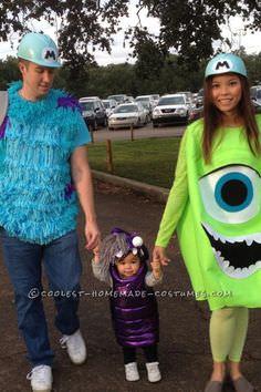 disfraces caseros para familias monstruos sa