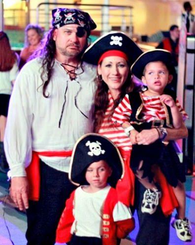 disfraces caseros para familias piratas