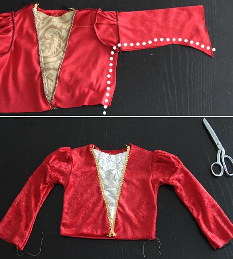 disfraz medieval de niña
