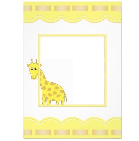tarjetas de bautizo originales jirafa