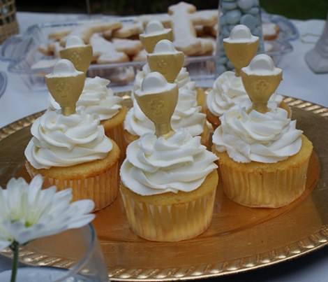 cupcakes decorada comunión