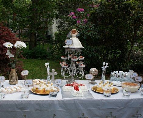 mesa decorada comunión