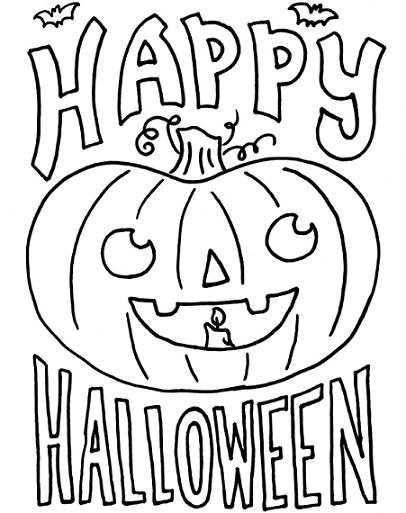 Dibujos de calabazas para pintar y colorear en Halloween – Fiestas ...