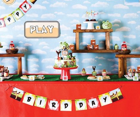 celebra un cumpleaños de agry birds