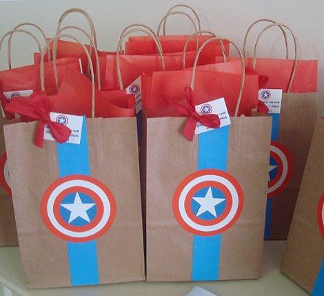 bolsa de cumpleaños del capitán américa