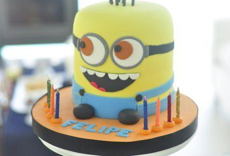 tarta de cumpleaños de gru mi villano favorito