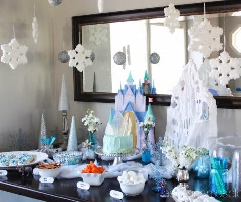 Copos De Nieve Para Decorar Fiesta Frozen.Fiesta De Cumpleanos De Frozen El Reino Del Hielo