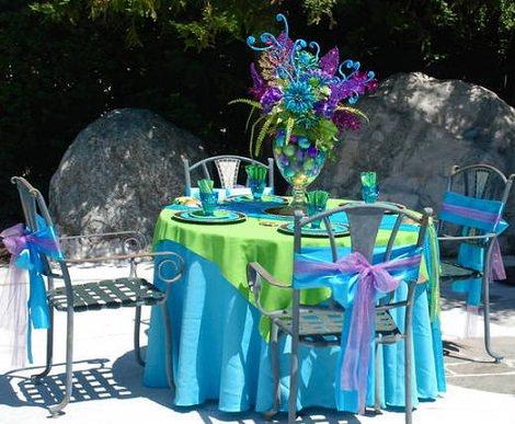 sillas de cumpleaños de La Sirenita
