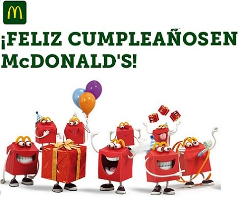 celebrar un cumpleaños infantil en McDonalds