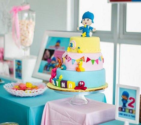 tarta de cumpleaños de Pocoyó