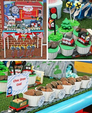 decoracion de una fiesta de thomas el tren y sus amigos
