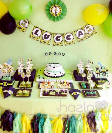 mesa de cumpleaños de ben 10