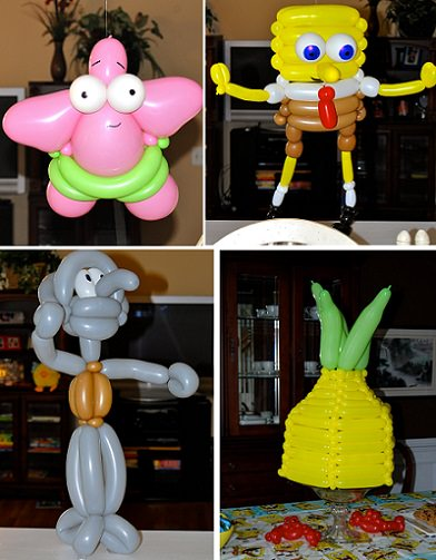 globos de cumpleaños de bob esponja