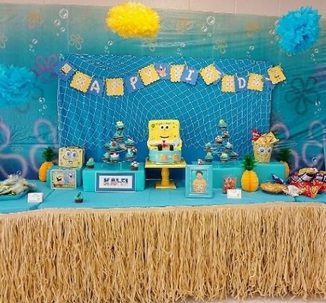 fiesta de cumpleaños de bob esponja