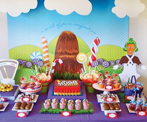 fiesta de charlie y la fábrica de chocolate