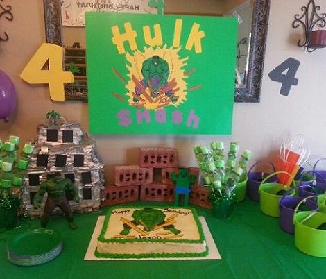 fiesta de cumpleaños del increíble hulk
