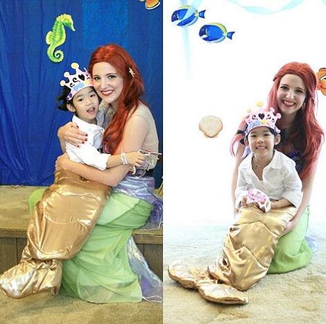 disfraz casero de la Sirenita de Disney